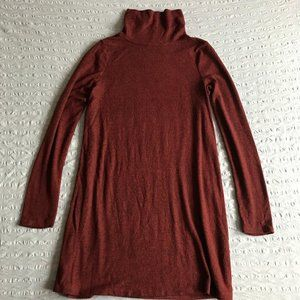 Urban Outfitters red turtleneck dress